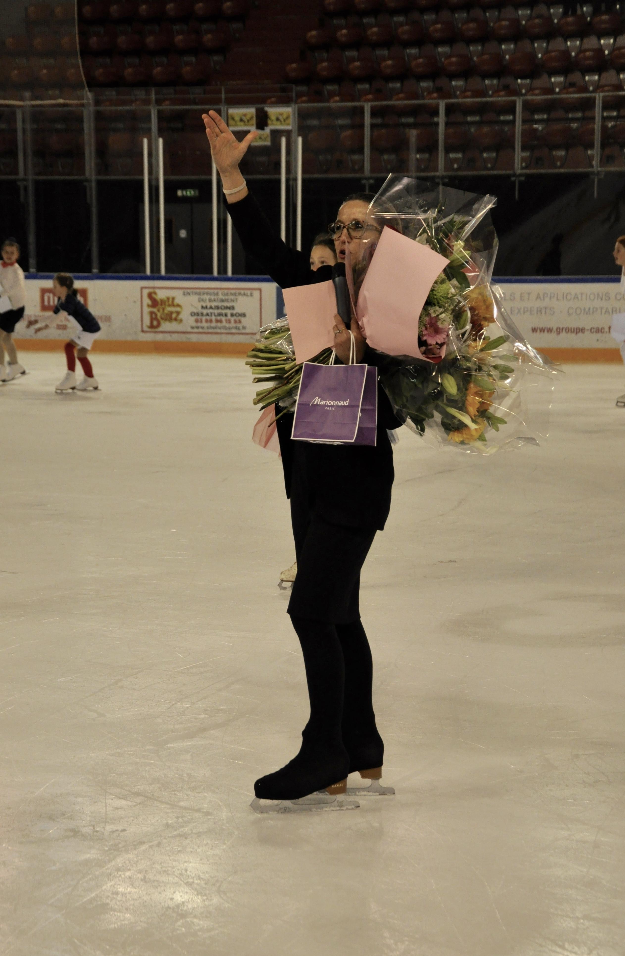 Remerciement à notre entraîneur, Patricia Odet Rodriguez